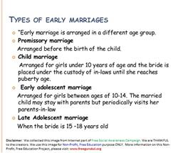 ChildMarriage-TypesOfEarlyMarriages